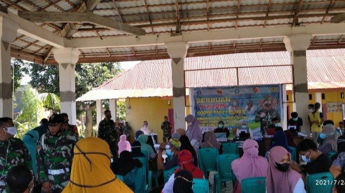 Ratusan Warga Ikuti Program Serbuan Vaksinasi di Wonomulyo