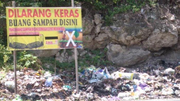Warga Kesal! Spanduk Buang Sampah Didoakan Meninggal dan Kecelakaan di Pambusuang