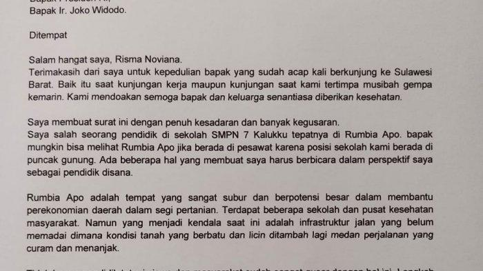 Surat terbuka untuk Presiden Joko Widodo