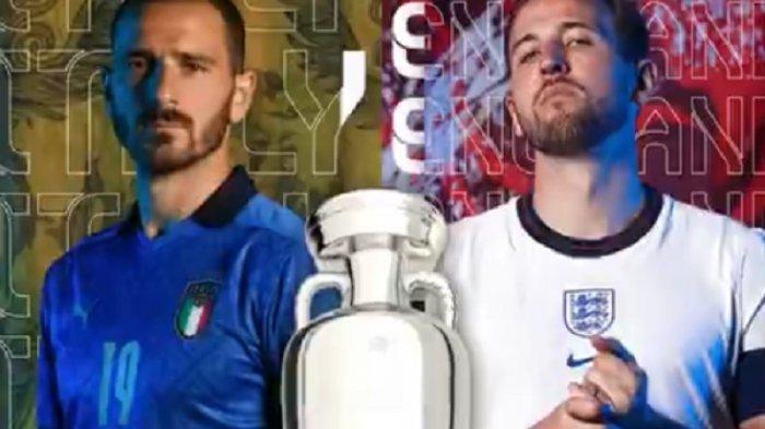 Susunan Pemain Italia vs Inggris dan Live Streaming RCTI & Mola TV Final EURO 2020 Malam Ini