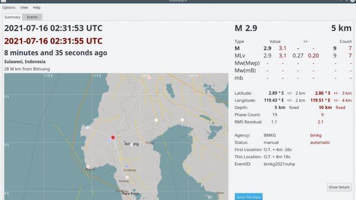 Gempa Magnitudo 2,9 SR Guncang Mamasa, Warga Anggap Sudah Biasa