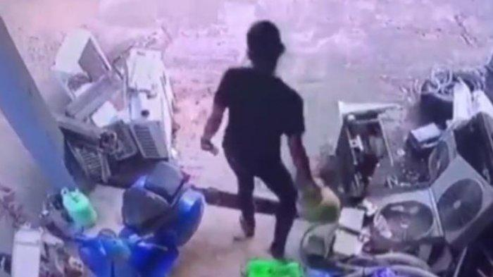 Pemilik Kios di Bababulo Majene Lapor Polisi, Pencuri Tabung Gas 3 Kg Terekam CCTV