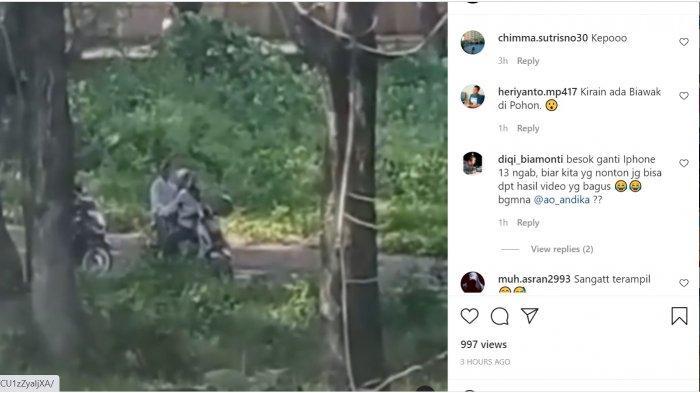 Viral Video Muda Mudi Sedang Berpelukan di Atas Motor di Alun-alun Kota Polman