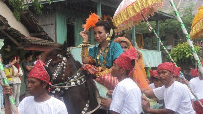 TRIBUNWIKI: Mengenal Sayyang Pattuqduq, Tradisi Masyarakat Mandar Berupa Atraksi Kuda Menari