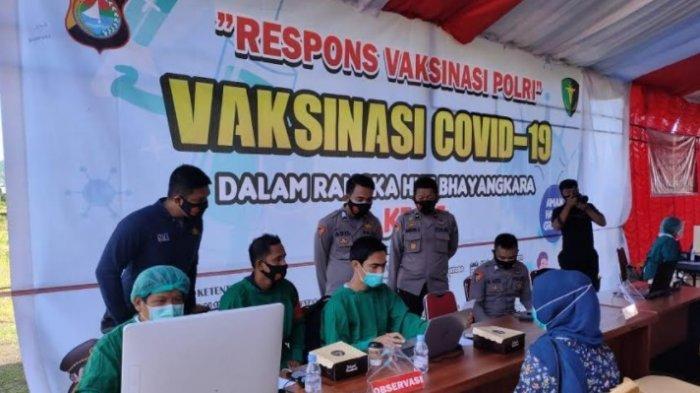 Sambut HUT ke-75 Bhayangkara, Polda Sulbar Gelar Vaksinasi Covid-19 Massal