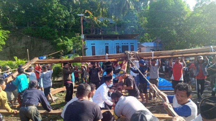 MAHTANCare Bantu Pembangunan Masjid di Desa Kayuangin Majene