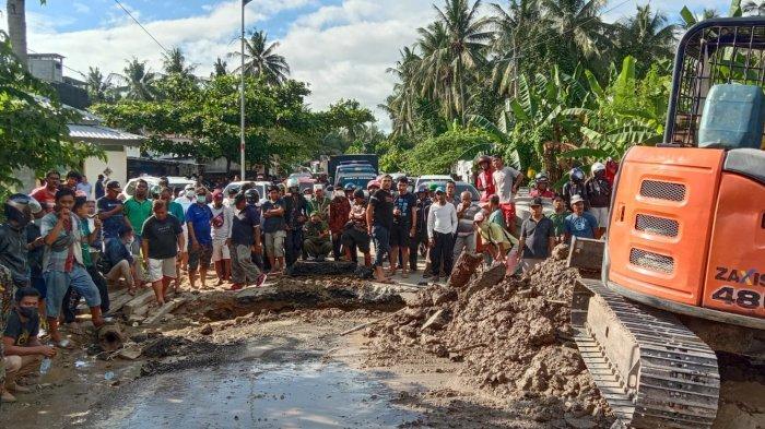 Arus Lalu Lintas Mulai Lancar di Jl Trans Sulawesi, Pengendara Diminta Berhati-hati Melintas