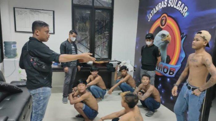 Jatanras Polda Sulbar Amankan 14 Preman & 9 Pemuda yang Pesta Miras di Kota Mamuju