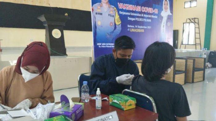 Vaksinasi Covid-19 di Polman, Mulai Sasar Sekolah dan Kampus