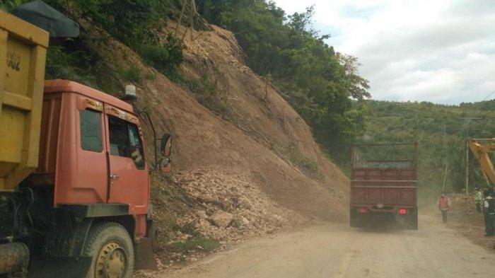 kendaraan sudah bisa lewat di Tubo Tengah Majene