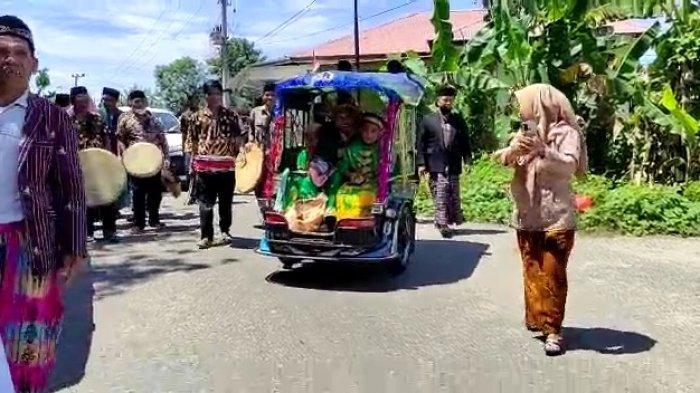 Mabuk Naik Mobil, Pengantin Pria Naik Bentor ke Rumah Mempelai Wanita dari Balanipa ke Polewali
