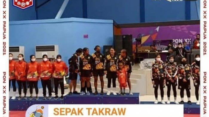 PERUNGGU Atlet Takraw Putri Sulbar Tak Masuk Hitungan Perolehan Medali PON XX Papua
