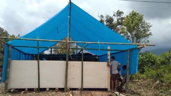 Rumahnya Ludes Dilalap Si Jago Merah, Saldi Warga Sumarorong Nginap di Tenda Darurat