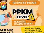 Pamplet-pemberitahuan-pemberlakuan-PPKM-level-tiga-di-Polman.jpg
