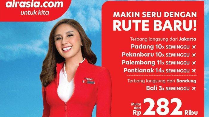 AirAsia Indonesia Buka 5 Rute Baru dan Tawarkan Promo Harga Tiket Jakarta-Palembang Rp 282 Ribu