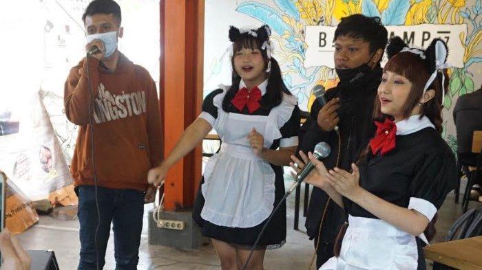 Promosikan Sastra Jepang, Basecamp17 Kafe Layani Konsumen Dengan Konsep Maid Ala Jepang