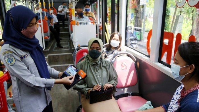 Lebih Mudah Suroboyo Bus Juga Pergunakan Tiket E Money Dengan Tapping