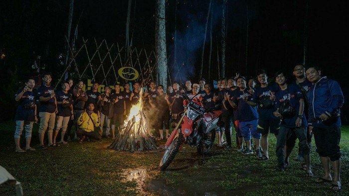 Wisata Camping Dan Outbond Bikin Akrab Para Biker Honda Se Jatim