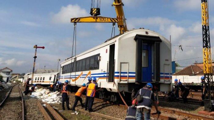 Gerbong Kereta Anjlok Telah Dievakuasi, Jalur 2 Stasiun Malang Kota Lama Kembali Normal