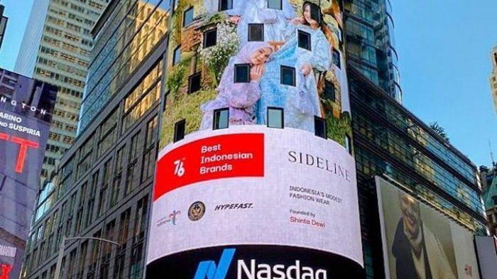 16 Brand Fesyen Tanah Air Tampil Di Videotron Times Square New York Amerika Serikat