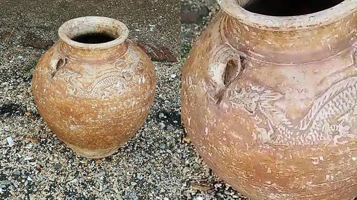 Dua Guci Kuno Temuan Nelayan Bawean Diperkirakan Benda Era Dinasti Ming