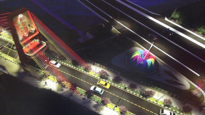 Jembatan Joyoboyo Mulai Dibangun Destinasi Baru Ikon Surabaya Lengkap Teman dan Air Mancur