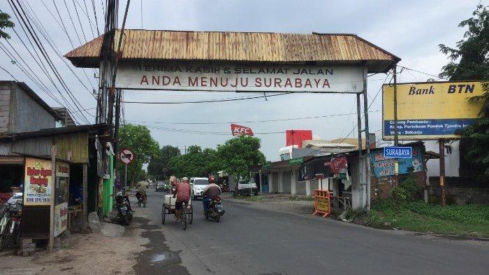 Sempat Ditutup Jalan Umum Perbatasan Surabaya Sidoarjo di Jalan Rungkut Menanggal Di Buka Kembali