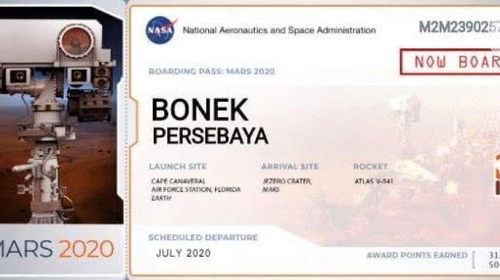 Luar Biasa Bonek Persebaya Berkibar Hingga Planet Mars, NASA Bawa Dengan Pesawat Atlas V