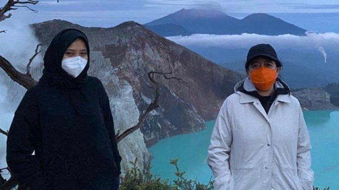 Mendaki ke Gunung Ijen di Banyuwangi, Puan Maharani: Keren Banget!
