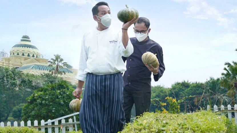 Aktivitas Berkebun The Westin Surabaya Hadirkan Produk Segar Bernutrisi