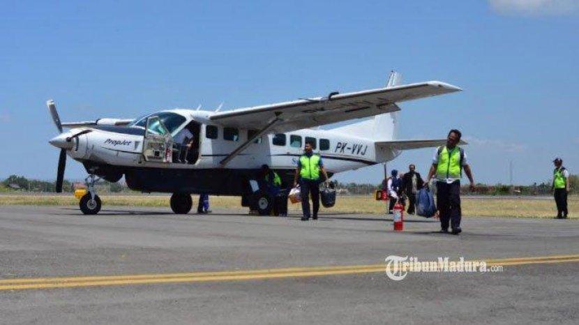 PPKM Level 2 Penerbangan Perintis Sumenep – Bawean Kembali Beroperasi