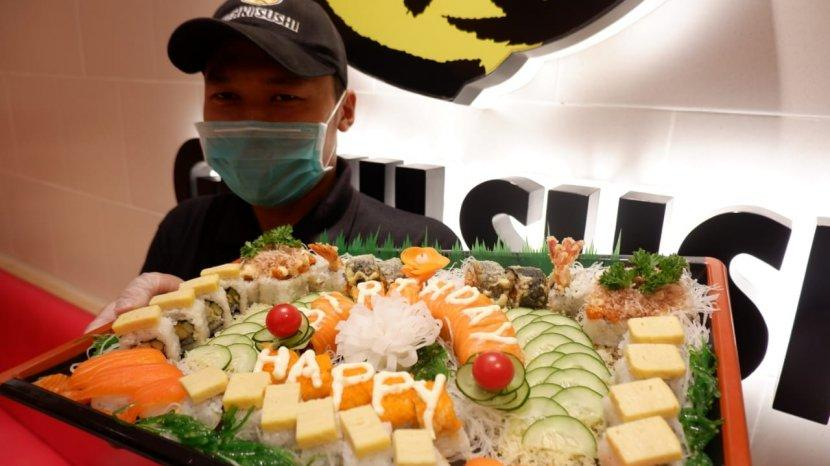 Sushi Cake Sajian Alternatif Saat Merayakan Ulang Tahun