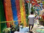 VIDEO - Sejak Dibuka Kembali, Kampung Warna-Warni di Kota Malang Masih Sepi