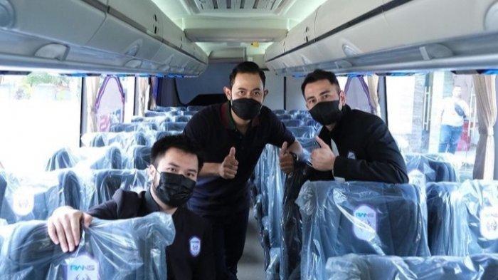 Bus J99 Corp untuk RANS Cilegob FC Gunakan Chasis Smash Mercedez Benz