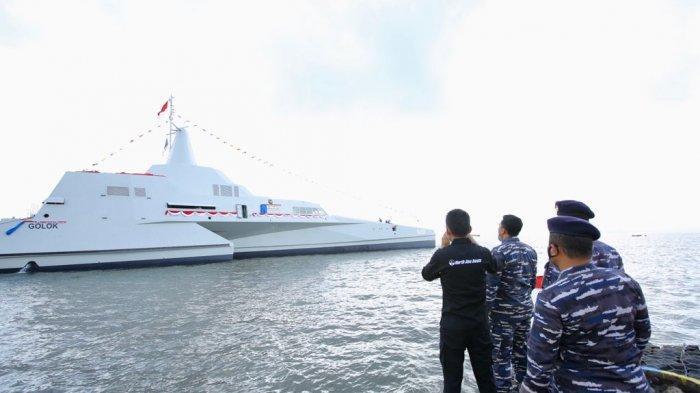 KRI Golok, Kapal Perang 'Siluman' Buatan Banyuwangi Yang Diluncurkan KSAL