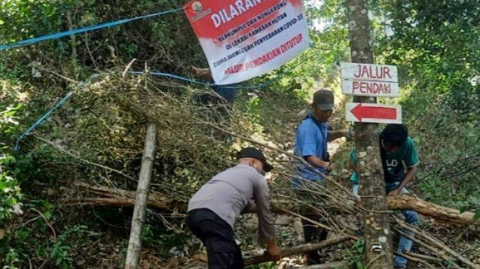 Akses Jalan Masuk Jalur Pendakian ke Gunung Klotok Ditutup