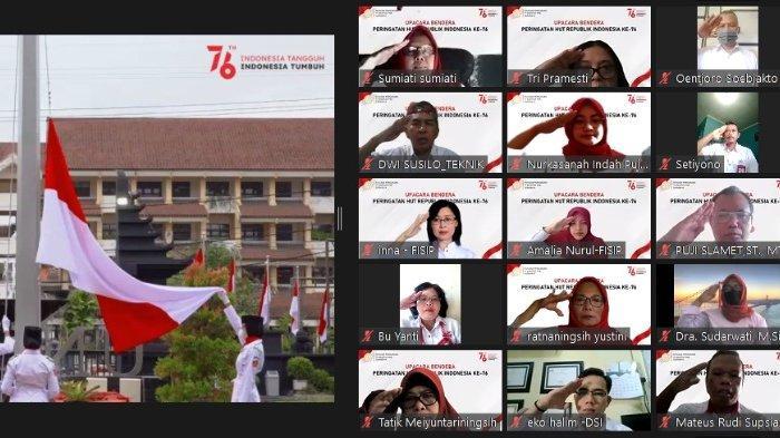 Peringati Hari Kemerdekaan, YPTA Surabaya Gelar Upacara Virtual
