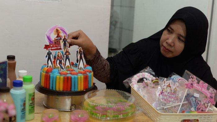 Indra Nila Belajar Jelly Art dan Puding Karakter Lewat YouTube