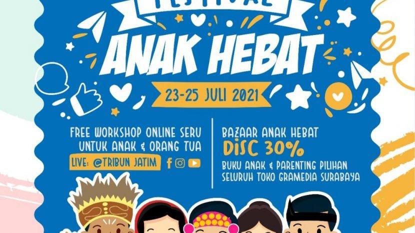Sambut Hari Anak Nasional, TribunJatim Network dan Gramedia Surabaya Gelar Festival Anak Hebat