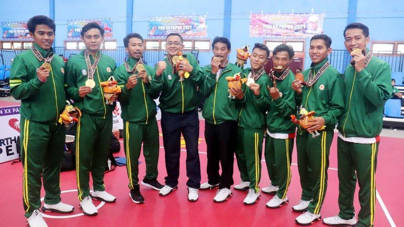 Sempat Tertinggal, Tim Takraw Putra Jatim Bisa Raih Emas Pertama Untuk Jawa Timur Di PON XX