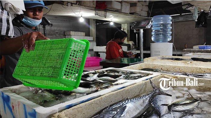 Pedagang di Pasar Kedonganan Keluhkan Harga Ikan yang Naik & Sepinya Kunjungan