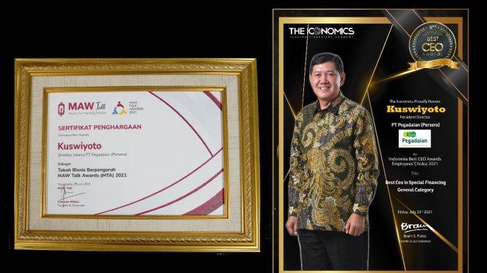 Kembali Torehkan Prestasi,Dirut Pegadaian Kuswiyoto Raih 2 Penghargaan CEO 2021
