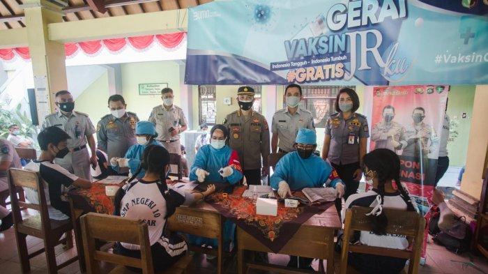 Tekan Sebaran Covid-19, Jasa Raharja Gandeng Biddokkes Polda Bali Gelar Vaksinasi