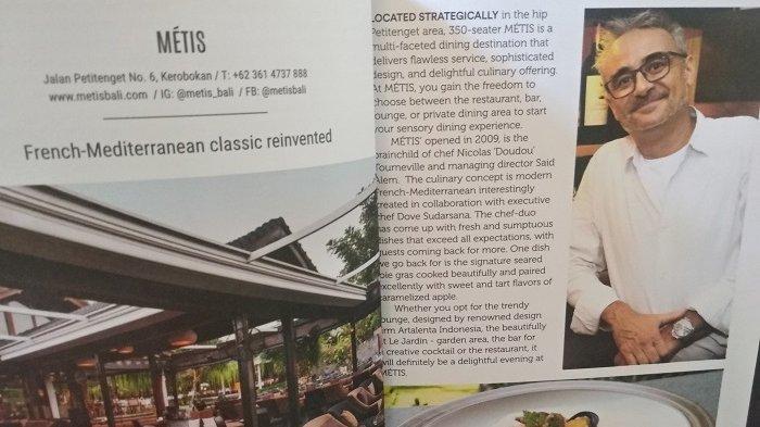 Restoran Metis Raih Posisi Restoran Of The Year