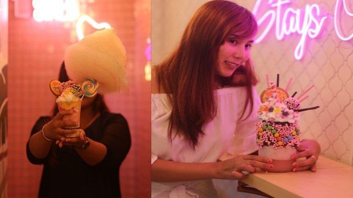 Mencicipi Kelezatan Cutton Candy Gelato Cup Khas Bingbong Cafe