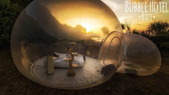 Bubble HotelBali Wujudkan Impianmu Bisa Bermalam di Dalam Sebuah Gelembung Dengan Bertabur Bintang