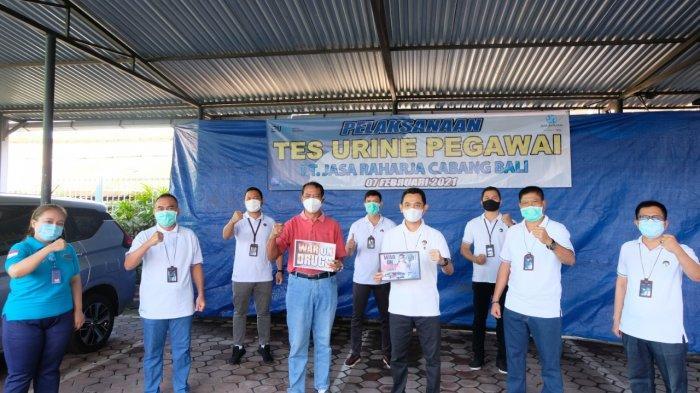 Jasa Raharja Bali Gandeng BNN Lakukan Tes Urine Pegawai