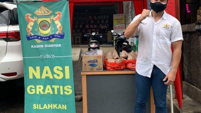 Aksi Sosial, Kadin Gianyar Lanjutkan Program Nasi Gratis dan Ambil Secukupnya