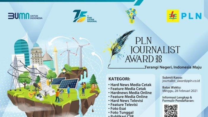 Terangi Negeri Indonesia Maju, PLNGelar Journalist Award 2020