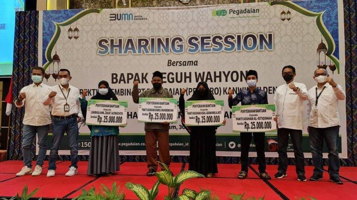 Bantuan Ramadan, Pegadaian Serahkan Bantuan DKU Untuk Baznas Dan Dompet Sosial Madani Kota Denpasar